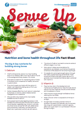 Serve Up Bone Strength Nutrition - 2015